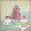 Classic Cupcake with Mouse Canvas Reproduction