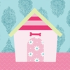 Classic Dog House - Girl Canvas Wall Art
