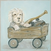 Classic Doggie with Wagon Canvas Reproduction