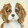 Classic Doggies King Charles Canvas Reproduction