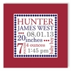 Classic Dot Boy Personalized Canvas Birth Announcement