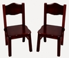Classic Espresso Extra Chairs - Set of 2