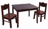 Classic Espresso Table and Chairs Set