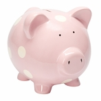 Classic Pastel Pink Piggy Bank