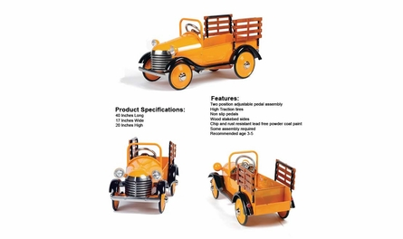 Classic Pedal Truck in Burnt Orange