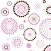 Classic Pink Circle Dot Cotton Changing Pad Cover