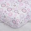 Classic Pink Circle Dot Crib Sheet