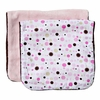 Classic Pink Dot Line Burp Cloth Set