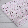 Classic Pink Dot Line Changing Pad Cover
