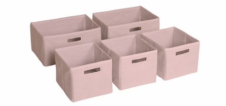 Classic Pink Storage Bins - Set of 5