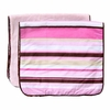 Classic Pink Stripe Burp Cloth Set