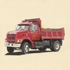 Classic Red Dump Truck Canvas Wall Art