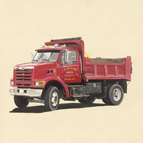 Classic Red Dump Truck Canvas Wall Art by Oopsy Daisy