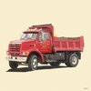 Classic Red Dump Truck Mural Wall Decal