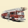 Classic Red Fire Engine Canvas Wall Art