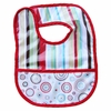 Classic Red Stripe Coated Bib