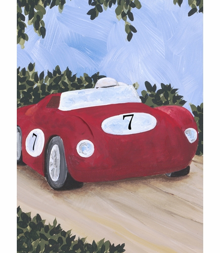 Classic Roadster III Canvas Reproduction