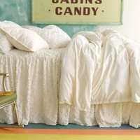 Classic Ruffle Ivory Duvet Cover By Pine Cone Hill