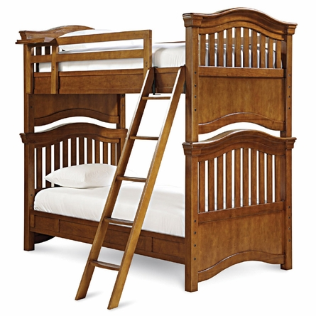 Classic Saddle Brown Bunk Bed