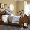 Classic Saddle Brown Low Post Panel Bed