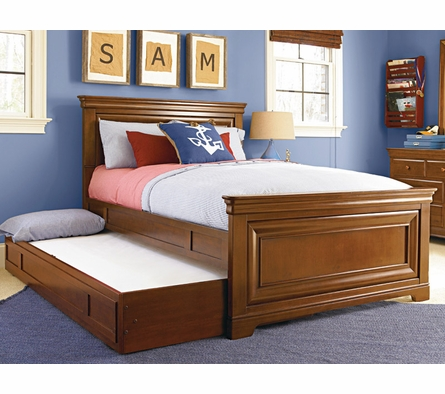 Classic Saddle Brown Panel Bed