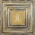 Classic Square Gold Metal Wall Plaque