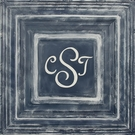 Classic Square Navy Metal Wall Plaque