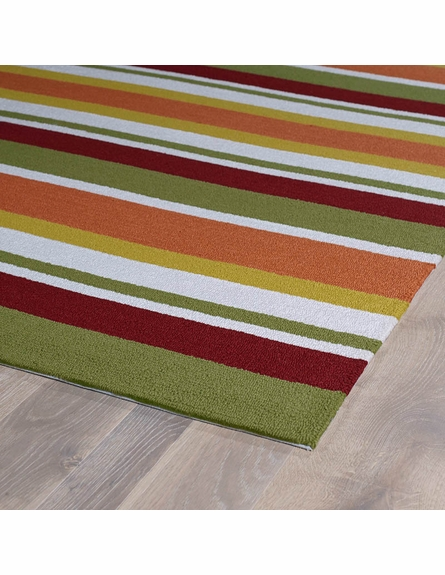 Classic Stripes Matira Rug in Tangerine