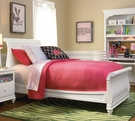 Classic Summer White Sleigh Bed