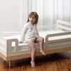 Classic Toddler Bed in Birch and White