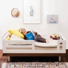 Classic Toddler Bed in Walnut and White