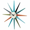 Classic Wooden Sunburst Wall Clock