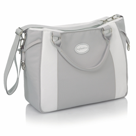 Classica Pram with Diaper Bag - Light Gray & White