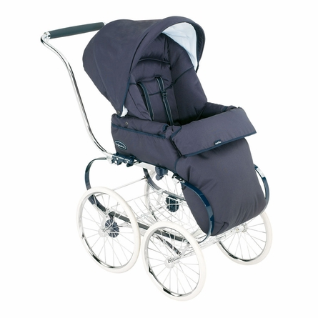 Classica Pram with Diaper Bag - Navy Blue