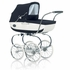 Classica Pram with Diaper Bag - Navy & White
