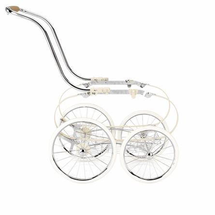 Classica Pram with Diaper Bag - Pink & White