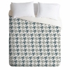 Classy Blue Houndstooth Luxe Duvet Cover