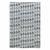 Classy Blue Houndstooth Flat Weave Rug