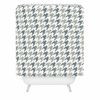 Classy Blue Houndstooth Shower Curtain