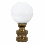 Clear Glass Round Ball Shape Finial