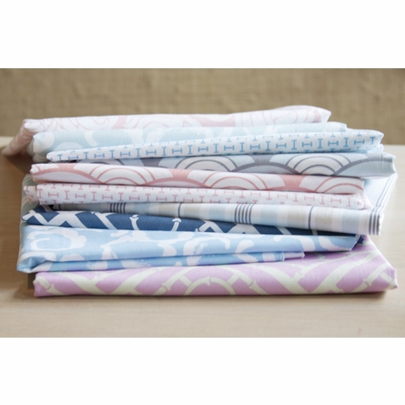 Cloud Aqua Fabric by the Yard