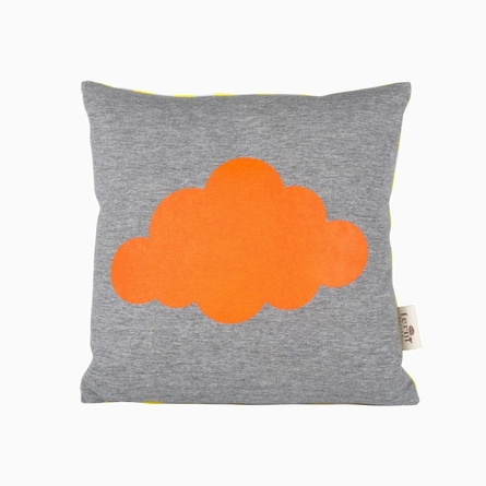 Cloud Organic Cotton Throw Pillow