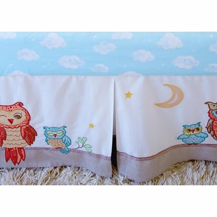Clouds Print Fitted Crib Sheet