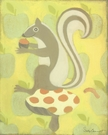 Clover Squirrel Canvas Wall Art