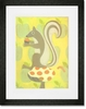 Clover Squirrel Framed Art Print