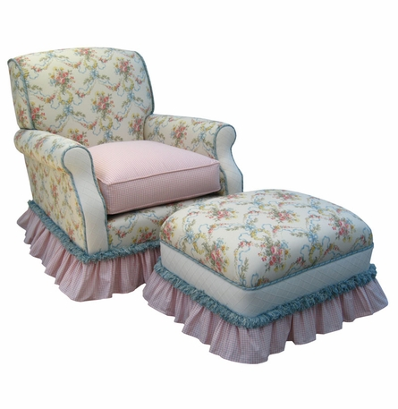 Club Rocker Glider Chair - Blossoms & Bows