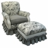 Club Rocker Glider Chair - Toile Black