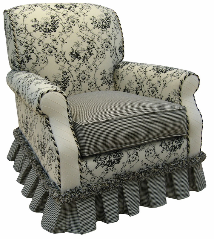 Club Rocker Glider Chair Toile Black By Angel Song