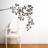 Coastline Blossoms in Brown Wall Decal