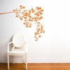 Coastline Blossoms in Light Orange Wall Decal